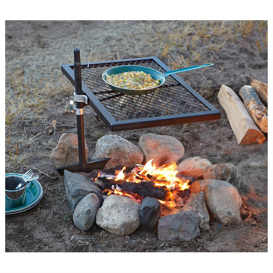 Fire Pit with Cooking Grate - Fire Pit With Cooking Grate FIREPLACE DESIGN IDEAS