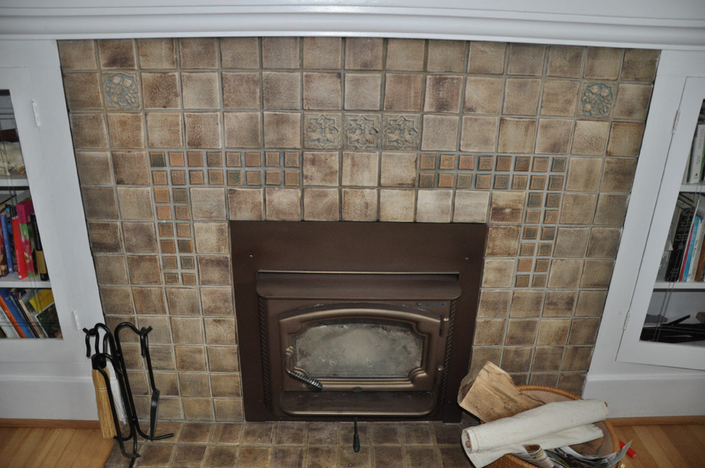 Fireplace Stone Tile Surround