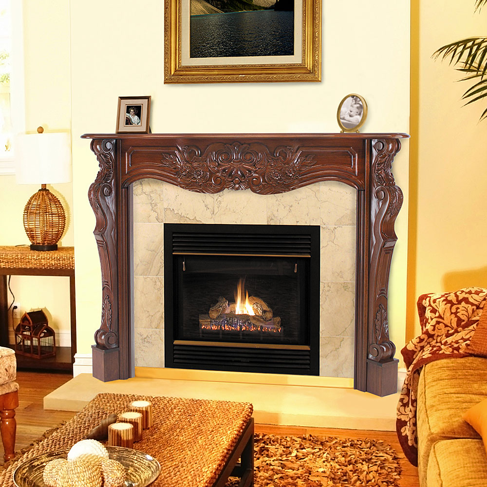 Fireplace tile surround kits fireplace design ideas for Wood fireplace surround designs