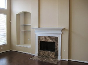 Fireplace with Granite Surround