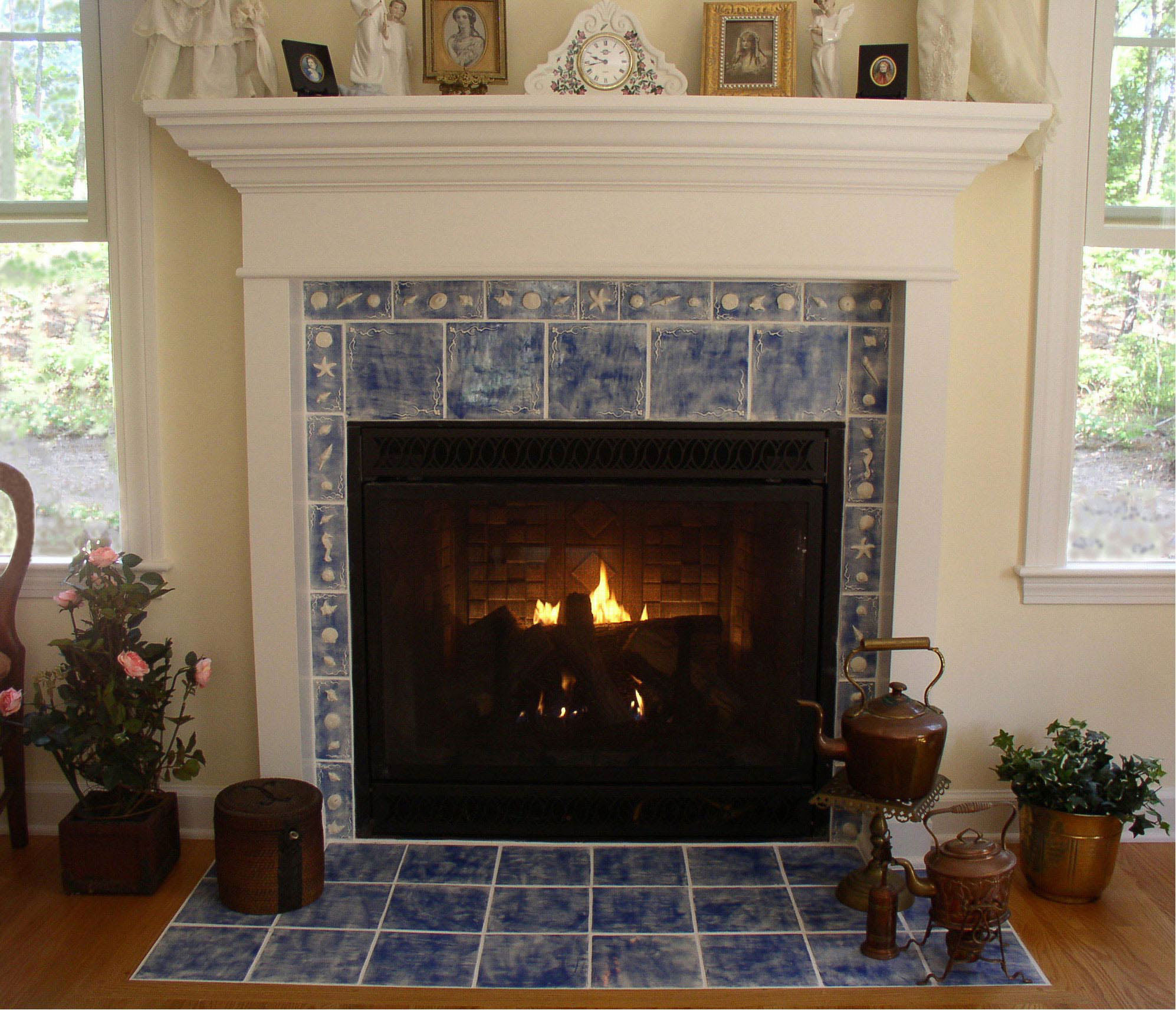 Fireplace With Tile Surround Fireplace Design Ideas