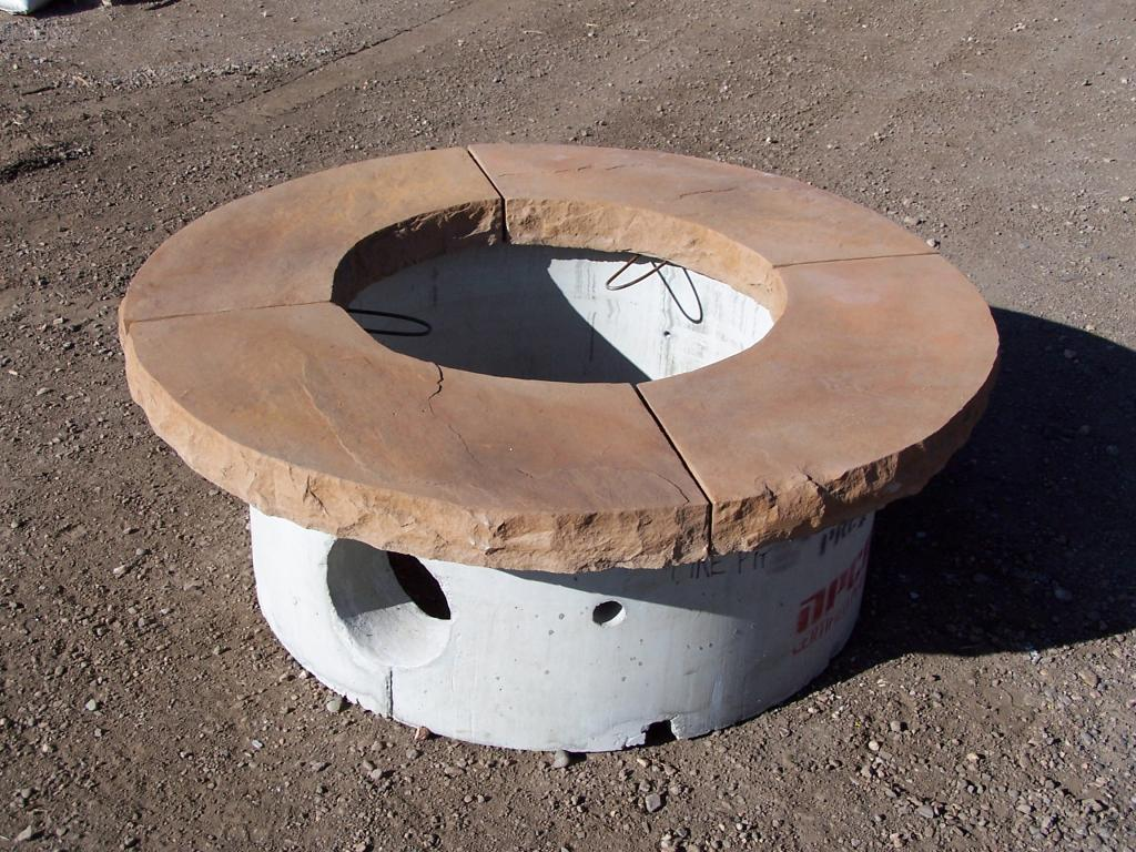 Flagstone Fire Pit Cap