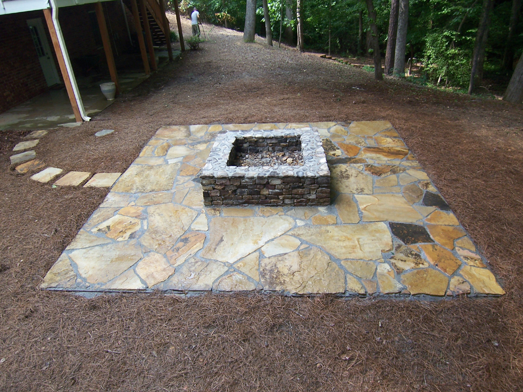 Flagstone Fire Pit Ideas