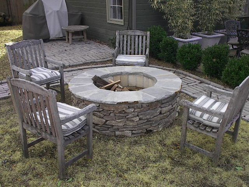 Flagstone Fire Pit Kit Fireplace Design Ideas