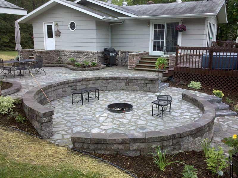 patio designs with flagstone snap shots