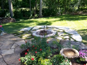 Flagstone Fire Pit Surround
