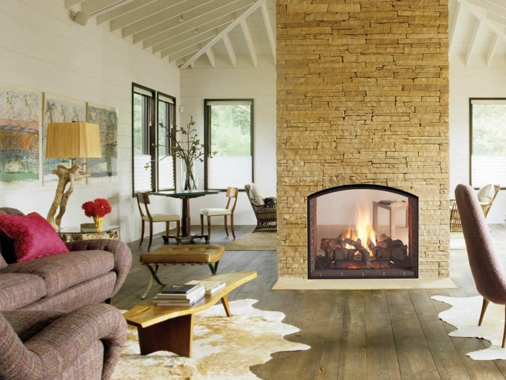 Gas Fireplace 2-Sided