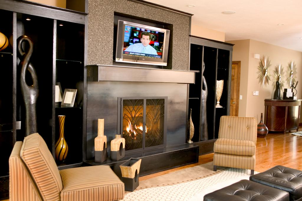 Mantel designs for gas fireplaces