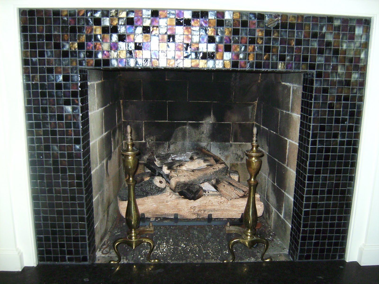 What You Should Know about Fireplace Tile Surround : Glass Tile Fireplace Surround. Glass tile fireplace surround. fireplace decor