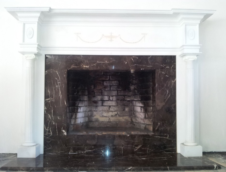 how to build a fireplace surround with stone
