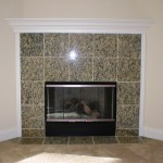 Granite Tile Fireplace Surround