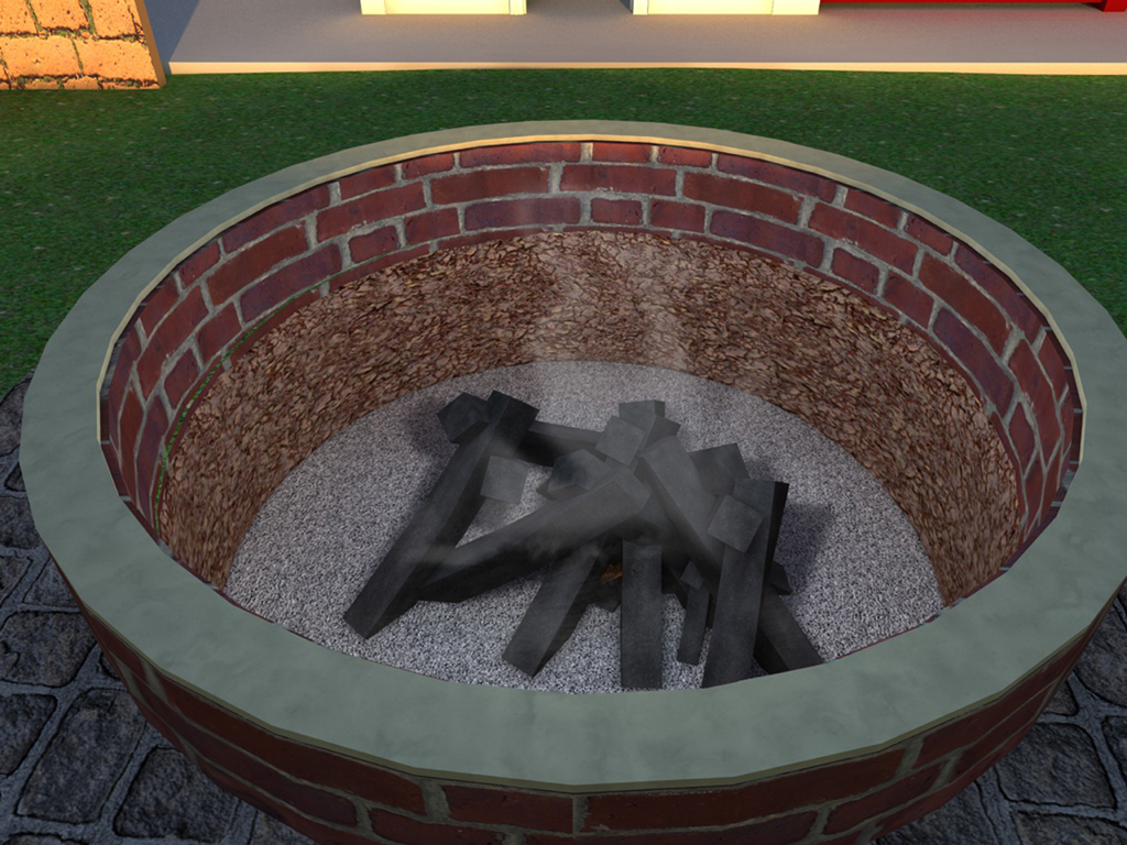 How to build a brick fire pit grill fireplace design ideas for Easy diy fire pit with grill