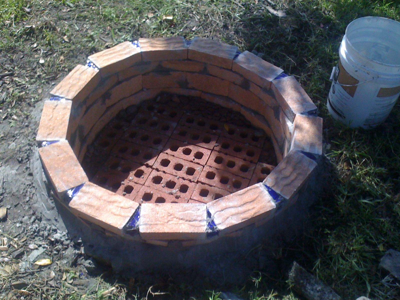 how to build a brick fire pit without mortar fireplace