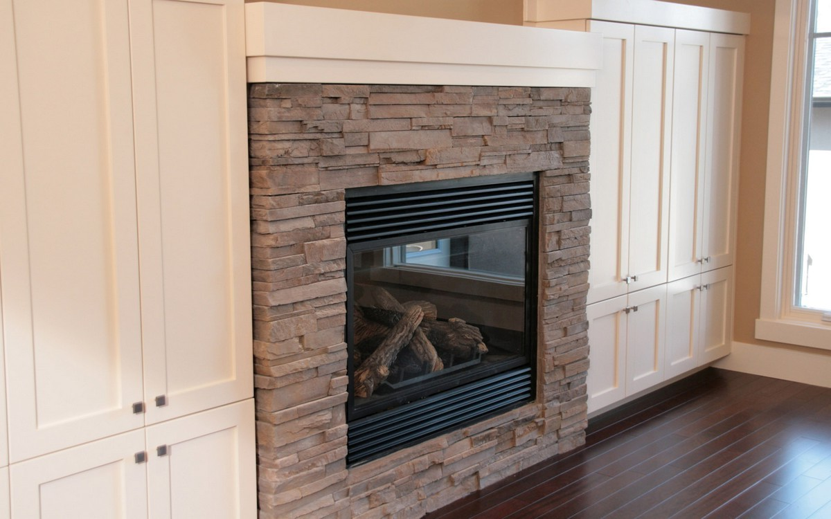 The one way of how to build a fireplace surround of any for Building a corner fireplace