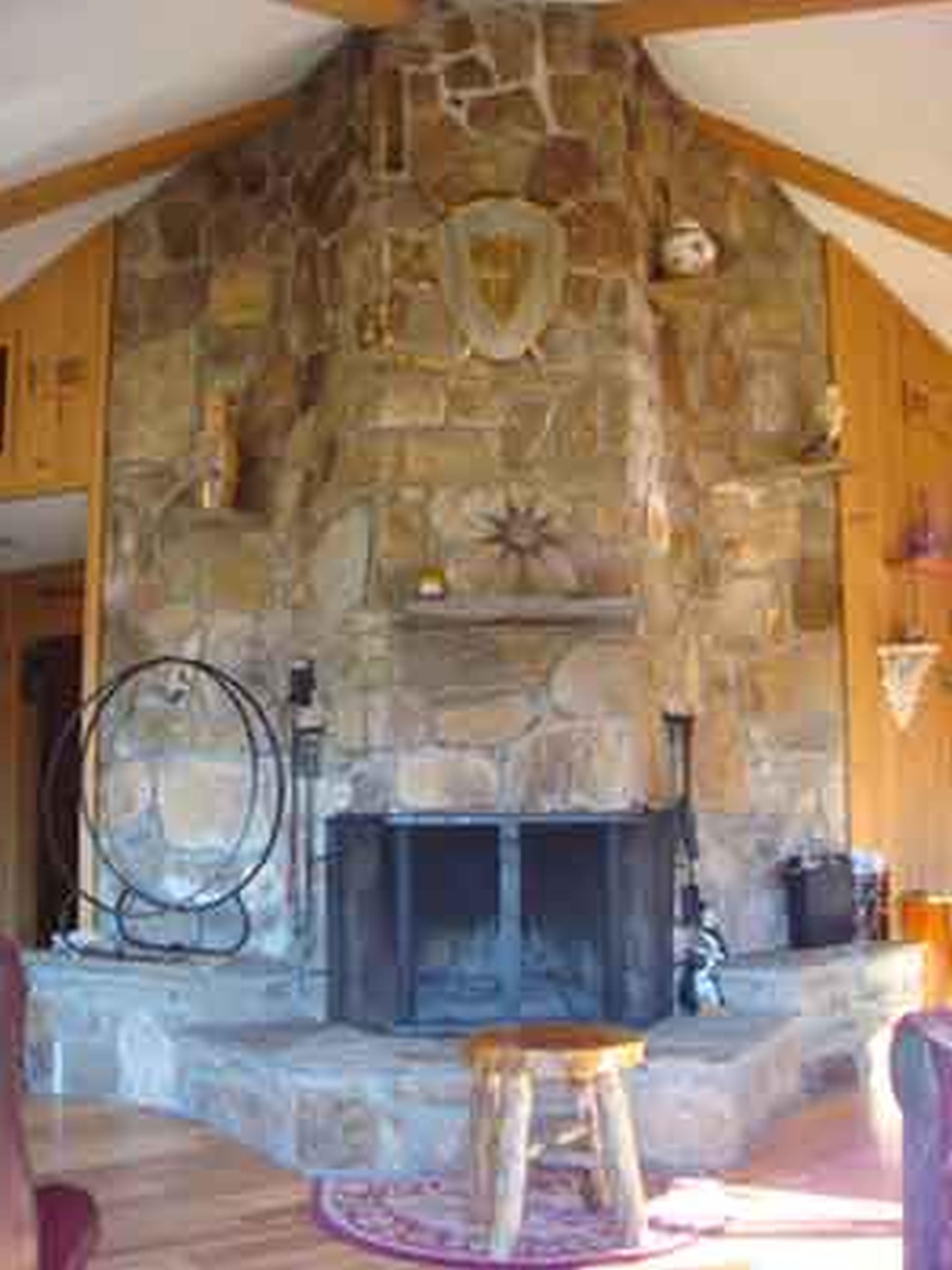 How To Build An Outdoor Stacked Stone Fireplace Hgtv Diy Gas ...