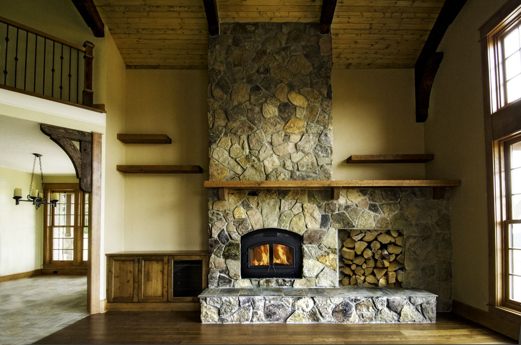 How To Build A River Rock Fireplace Fireplace Design Ideas