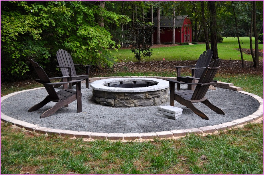 How to build a rock fire pit fireplace design ideas for How to build a fire ring with rocks