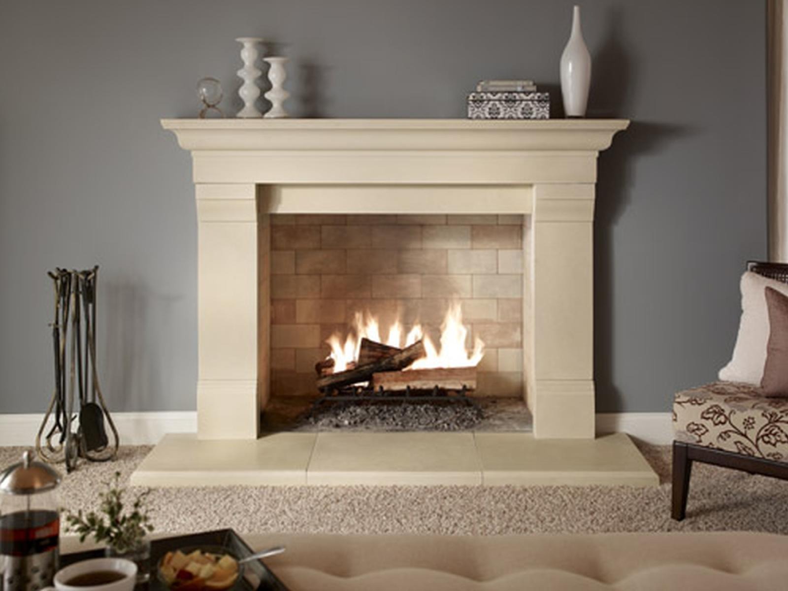 How to clean a limestone fireplace surround fireplace for Wood fireplace surround designs
