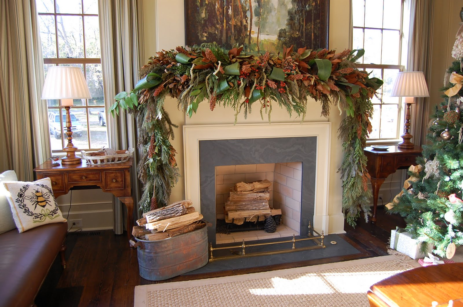 how to decorate a fireplace for christmas - How To Decorate A Fireplace Mantel For Christmas