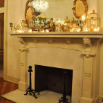 How to Decorate a Fireplace Mante with a Mirror