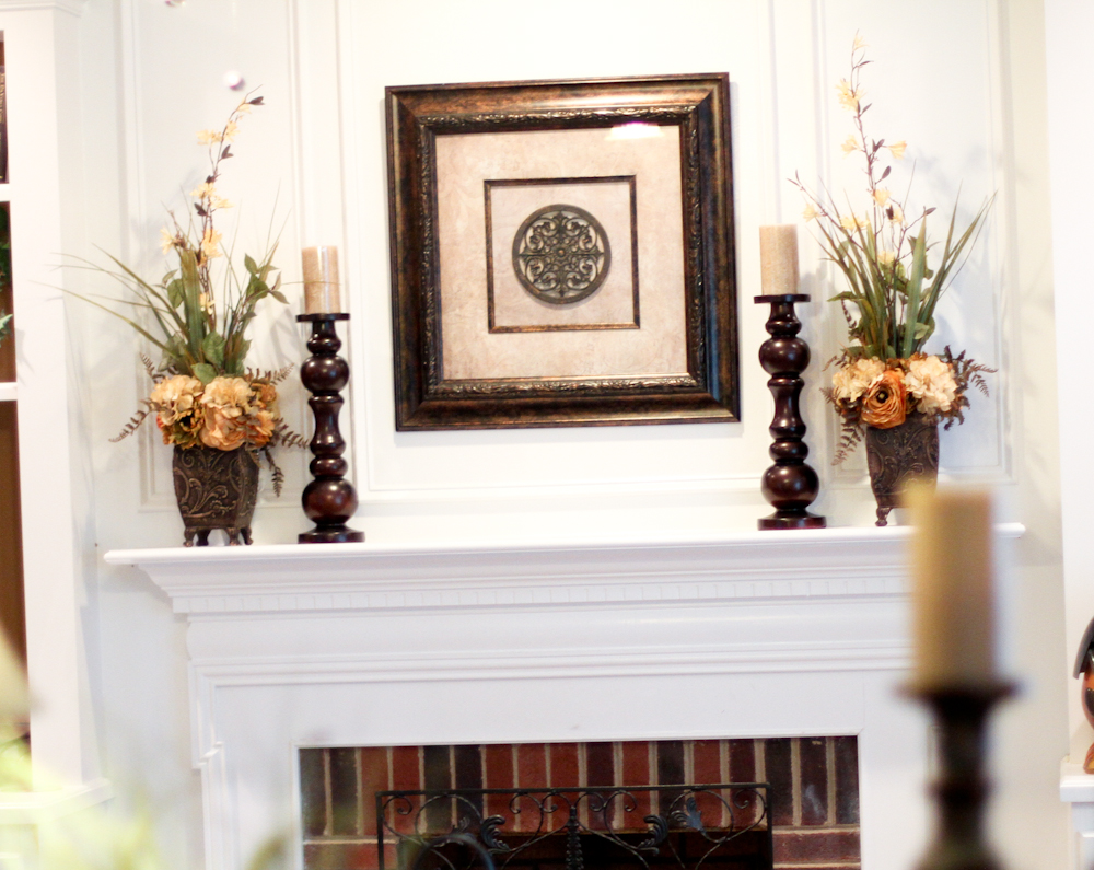 How to decorate a fireplace without mantle fireplace for How to decorate a fireplace for christmas
