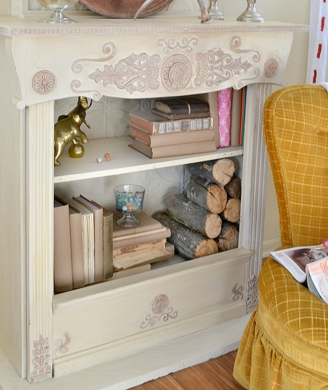 How to Make a Fake Fireplace out of a Bookshelf