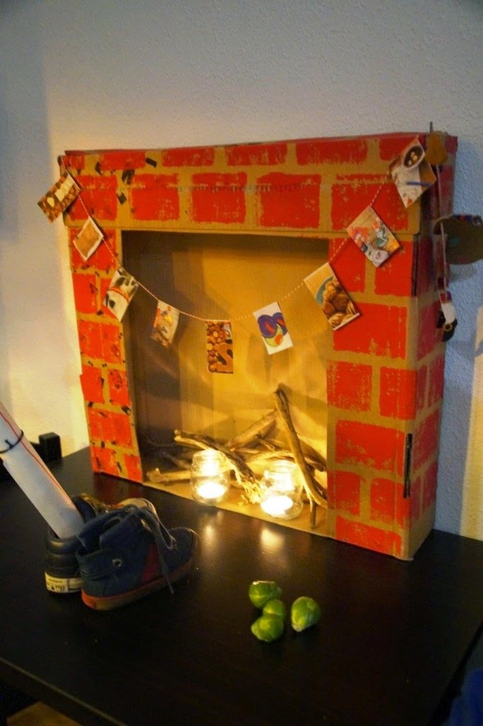Let's learn how to make a fake fireplace together ...