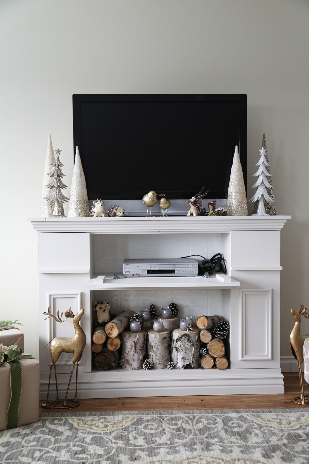 How To Make A Faux Fireplace Mantel Fireplace Design Ideas