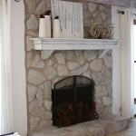 How to Paint a Stone Fireplace White