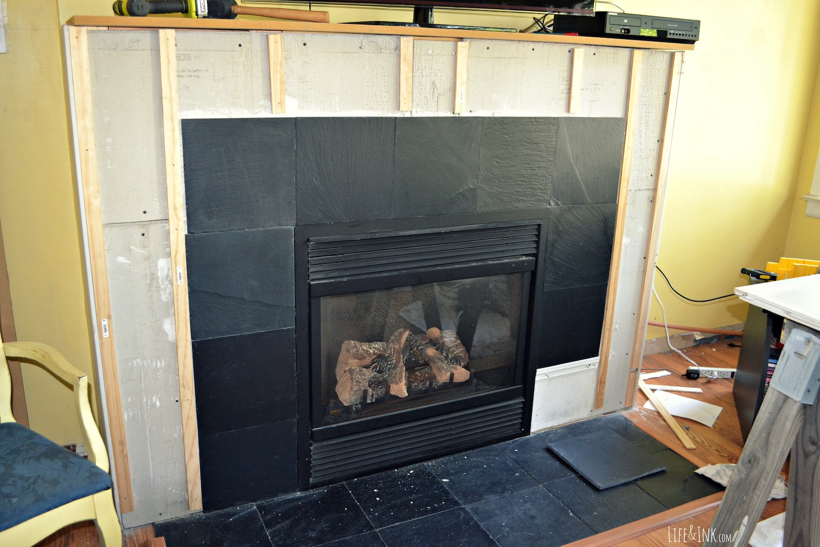 slate tile fireplace surround. How To Tile A Fireplace Surround To A  FIREPLACE DESIGN IDEAS