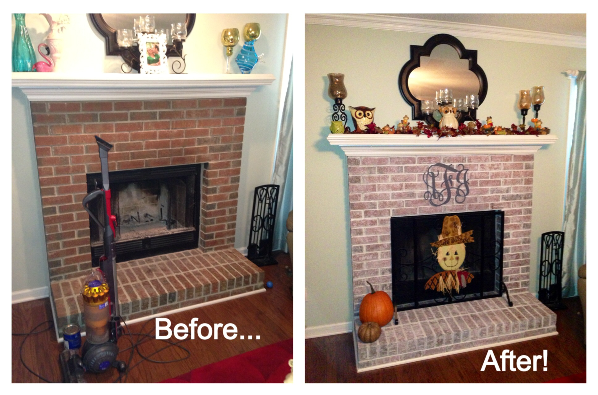 Whitewash Brick Fireplace for You : How To Whitewash A Brick Fireplace. How to whitewash a brick fireplace. white