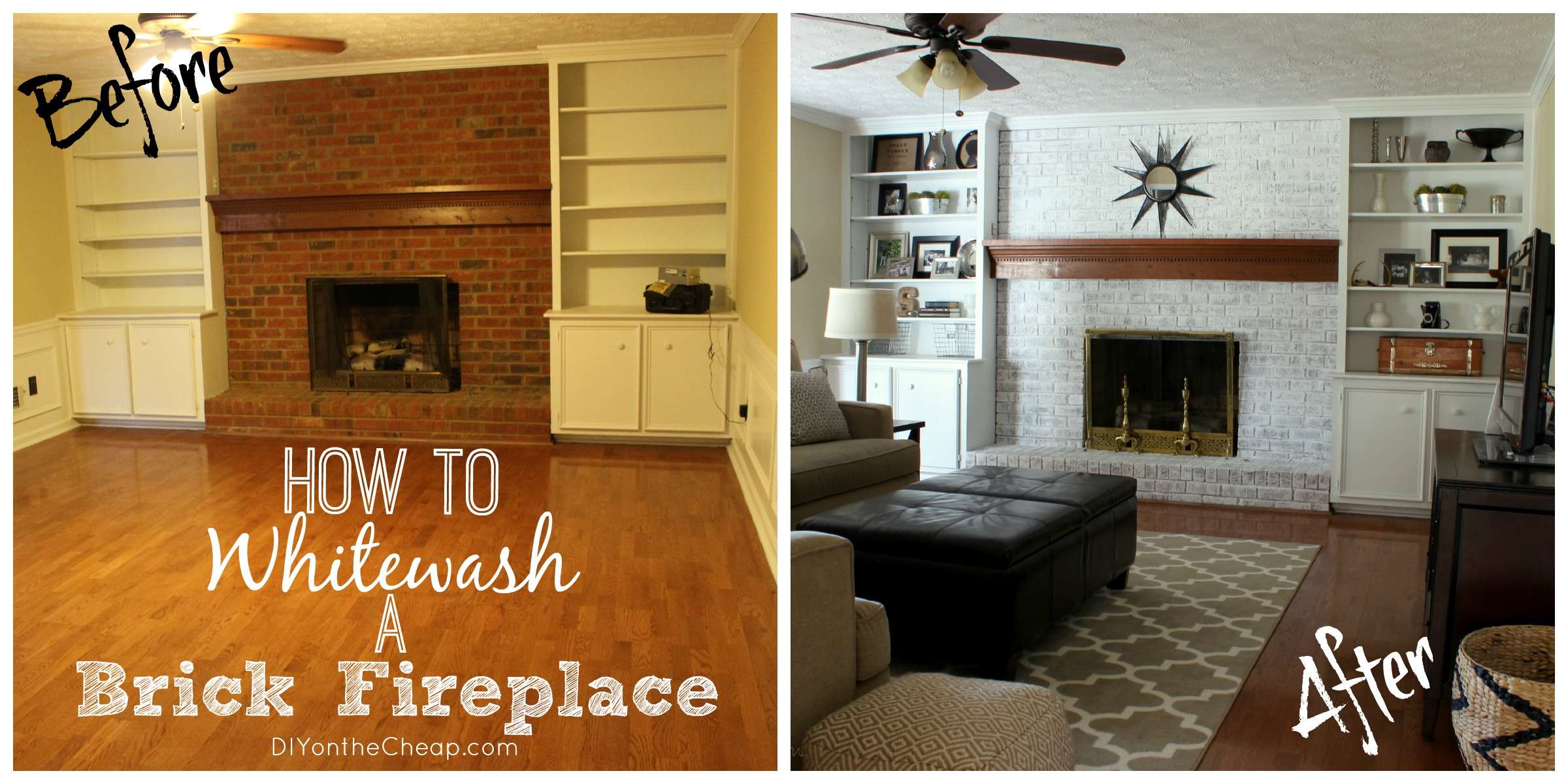 How To Whitewash Brick Fireplace FIREPLACE DESIGN IDEAS