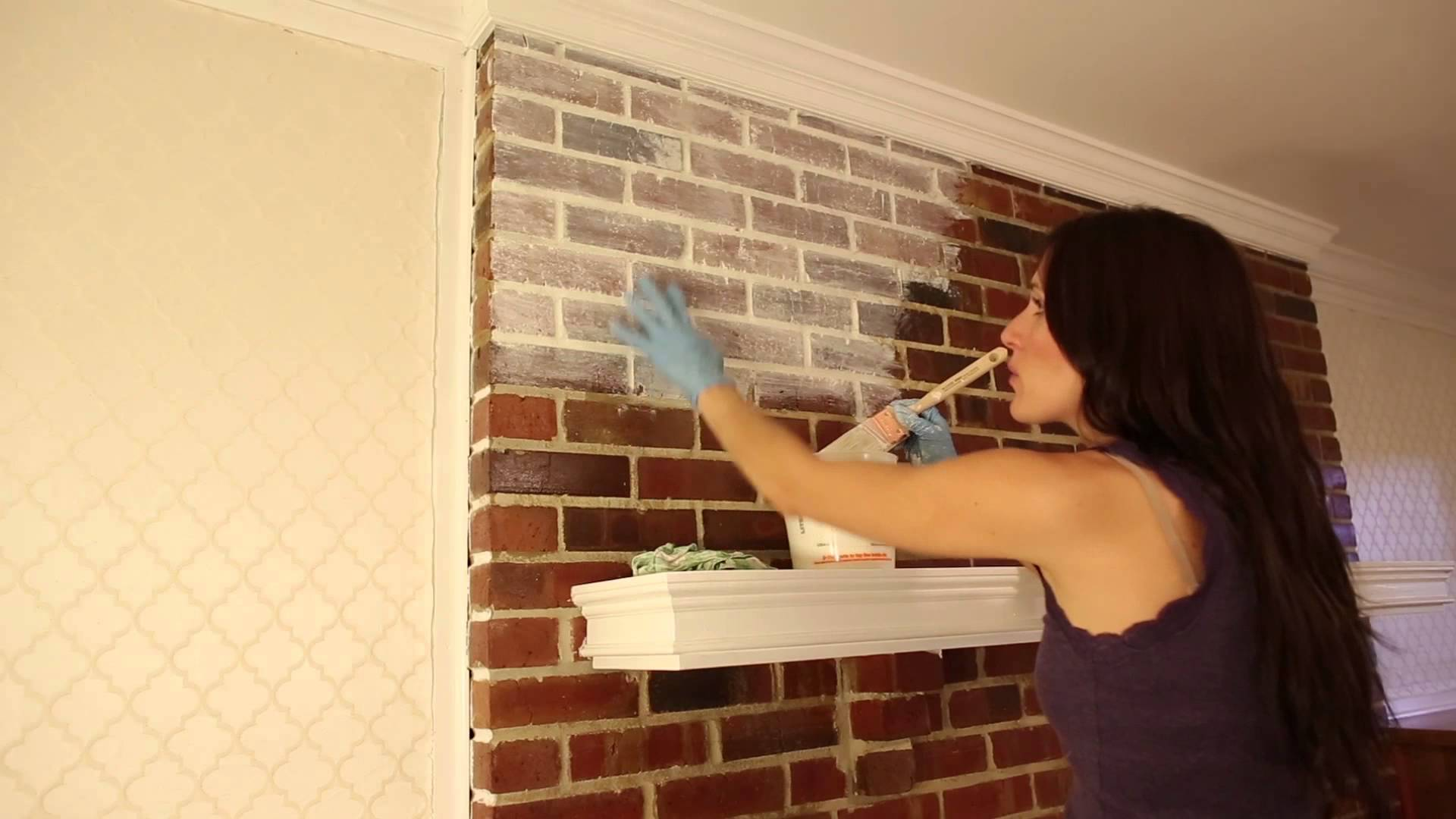How To Whitewash Red Brick Fireplace Fireplace Design Ideas