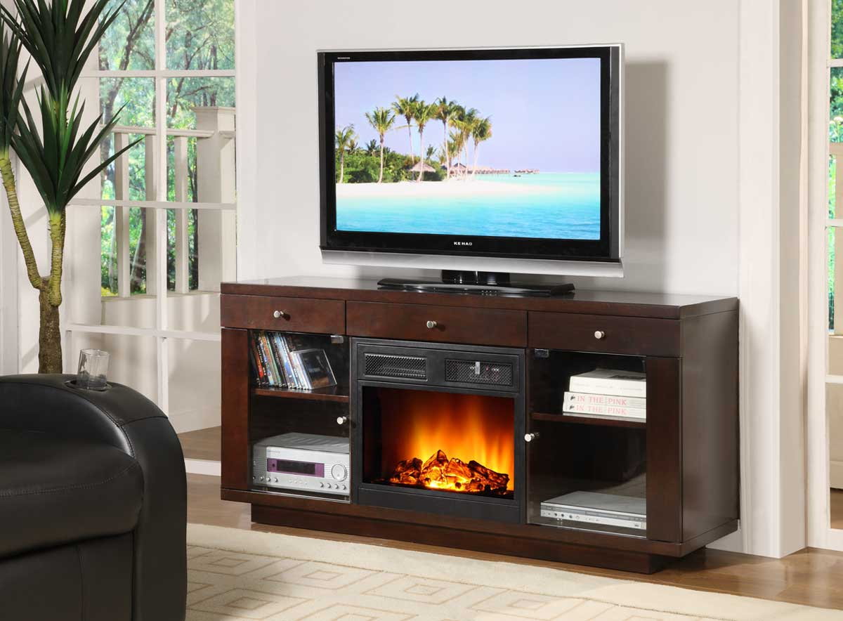 Indoor Electric Fireplace TV Stand