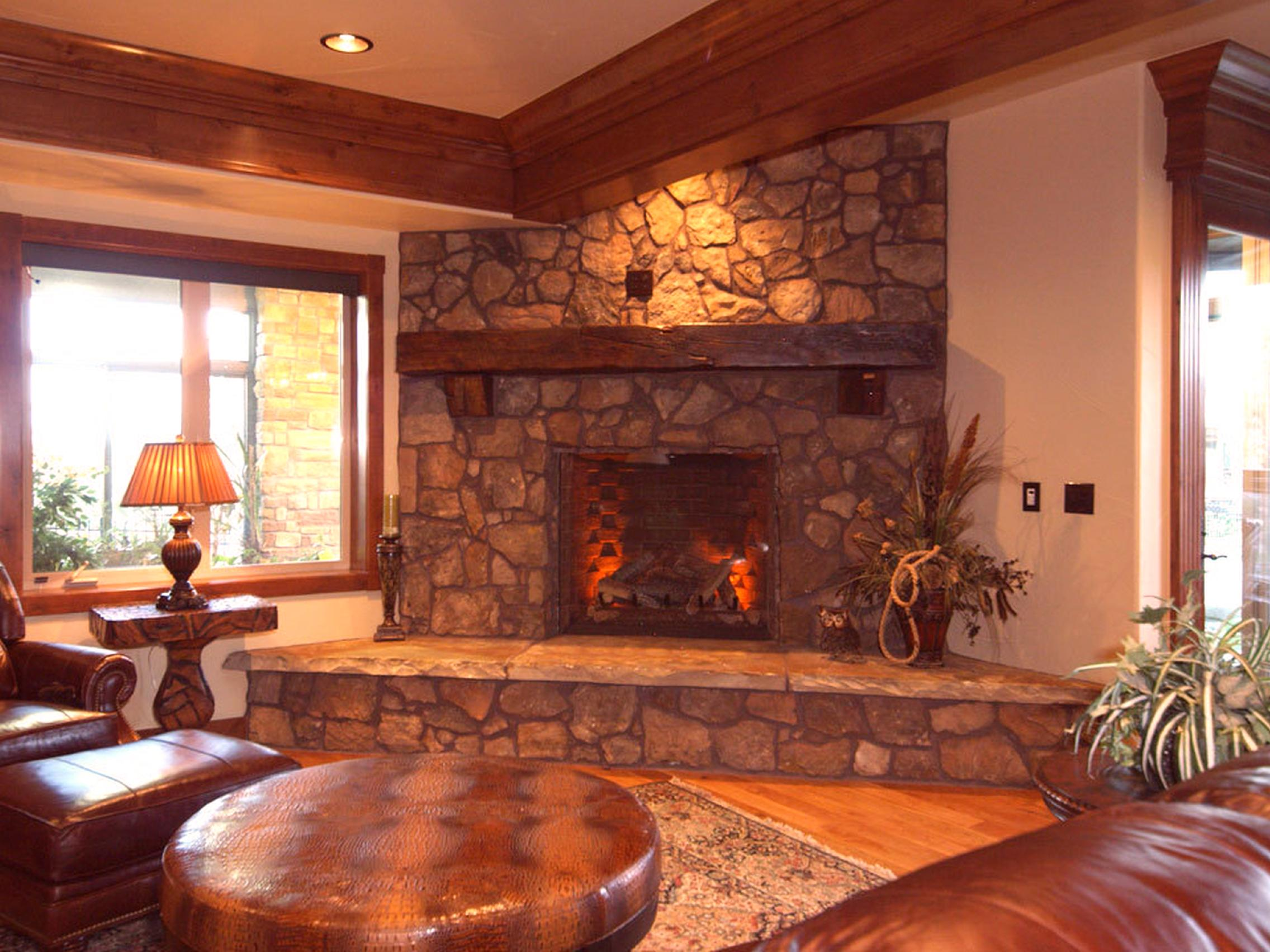 Corner fireplaces discount corner fireplace - Indoor Stone Fireplace Ideas Forwardcapitalus Corner Fireplaces