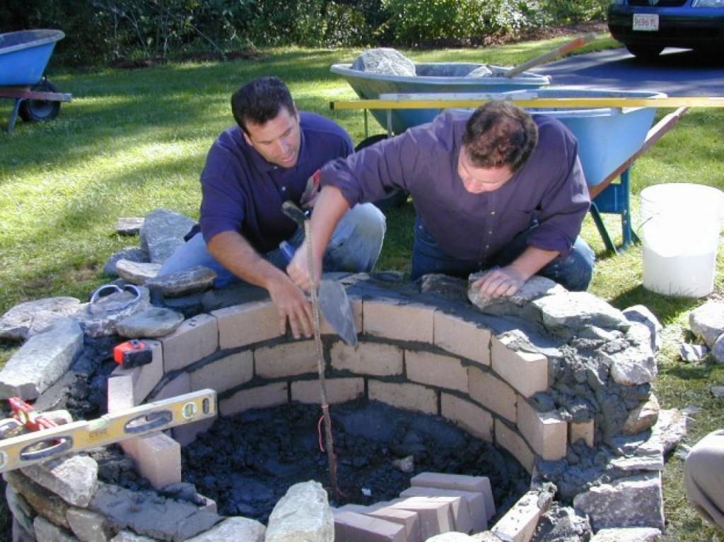Installing Brick Fire Pit