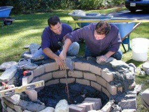 Installing Brick Fire Pit