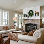 Living Room with Fireplace Design