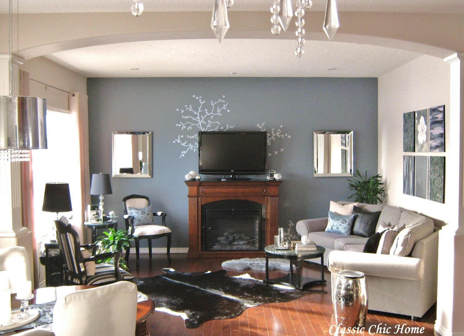 Beau Living Room With Fireplace Design Ideas
