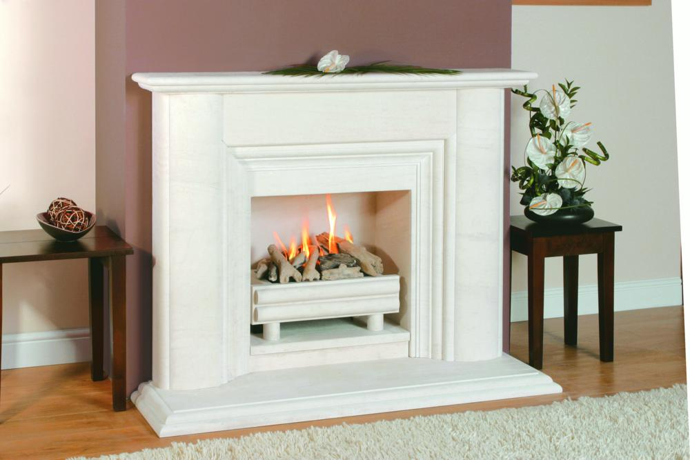 Marble and limestone surrounds electric fires fireplace for Fireplace surrounds for gas fires