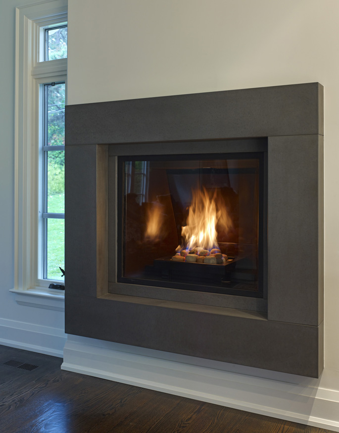 Metal Fireplace Surround Ideas