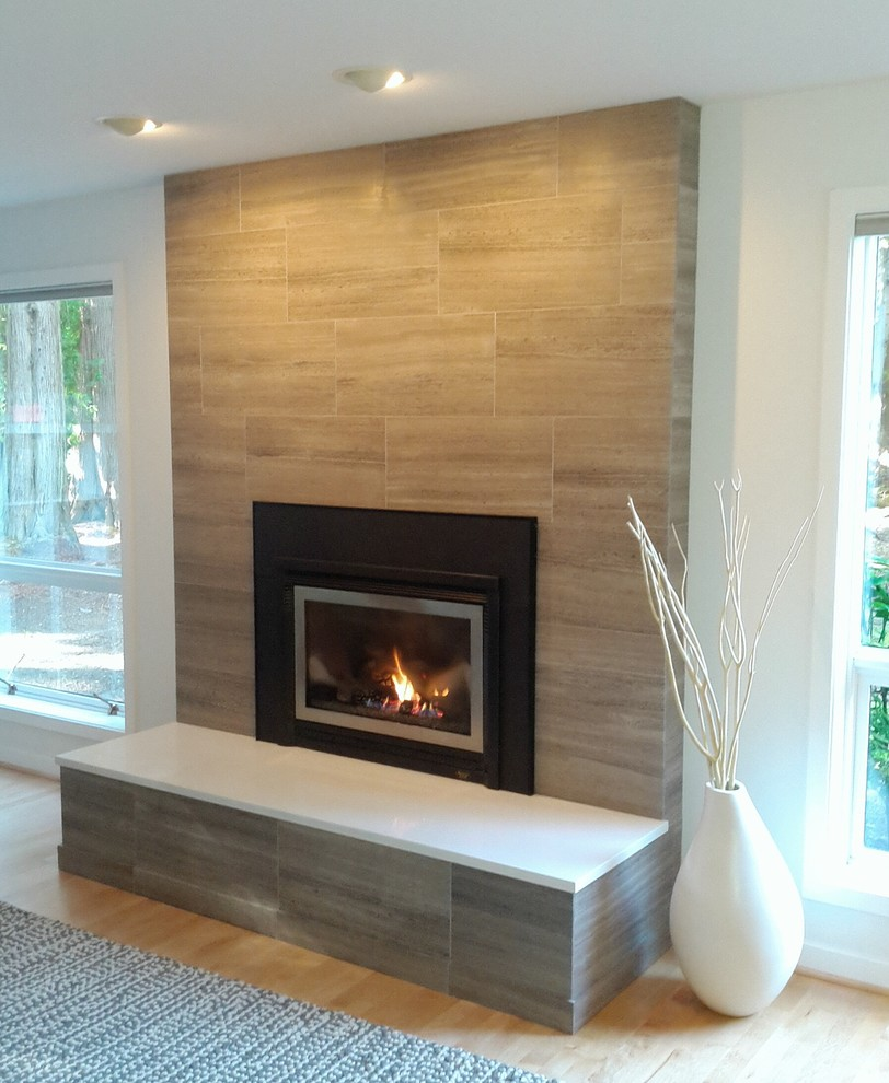 Some options of contemporary brick fireplace makeover | FIREPLACE ...