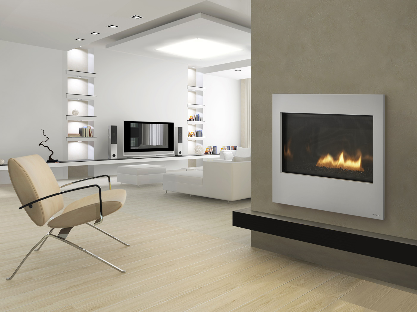 Modern Home Fireplace Mantels