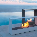 Modern Outdoor Gas Fireplace