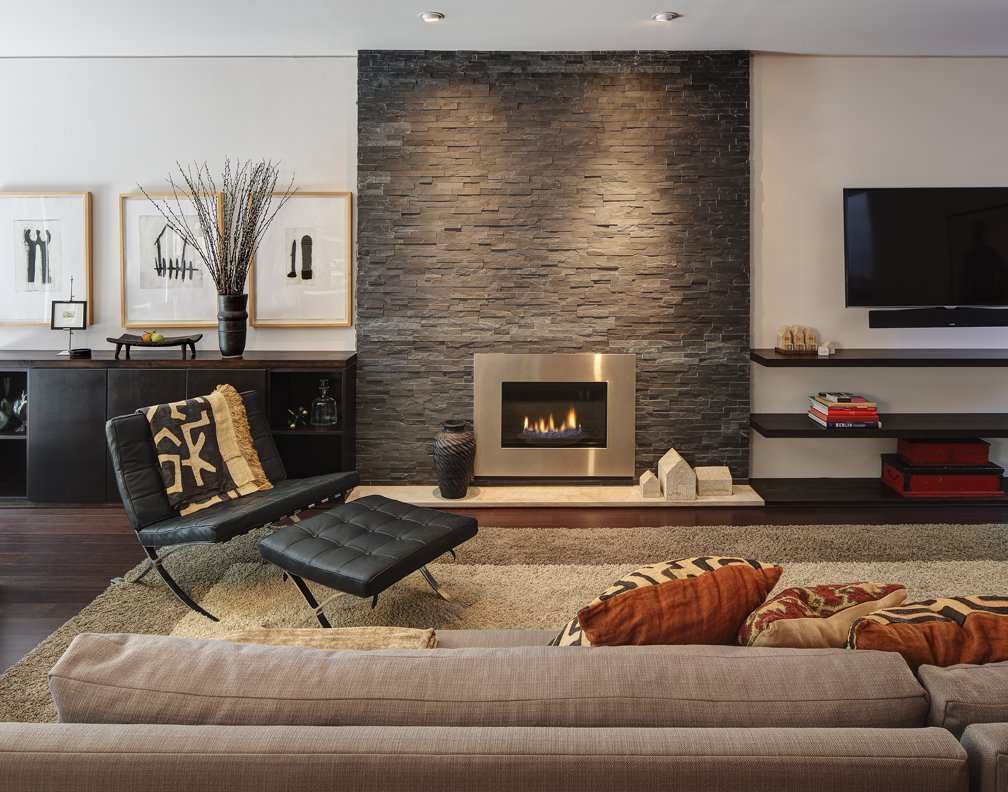 Modern Stone Fireplace Pictures