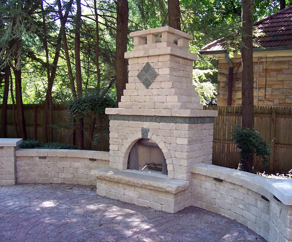 Outdoor brick fireplace designs fireplace design ideas for Exterior garden designs