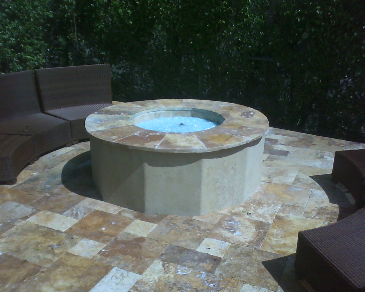 Outdoor Fire Pit Glass Stones