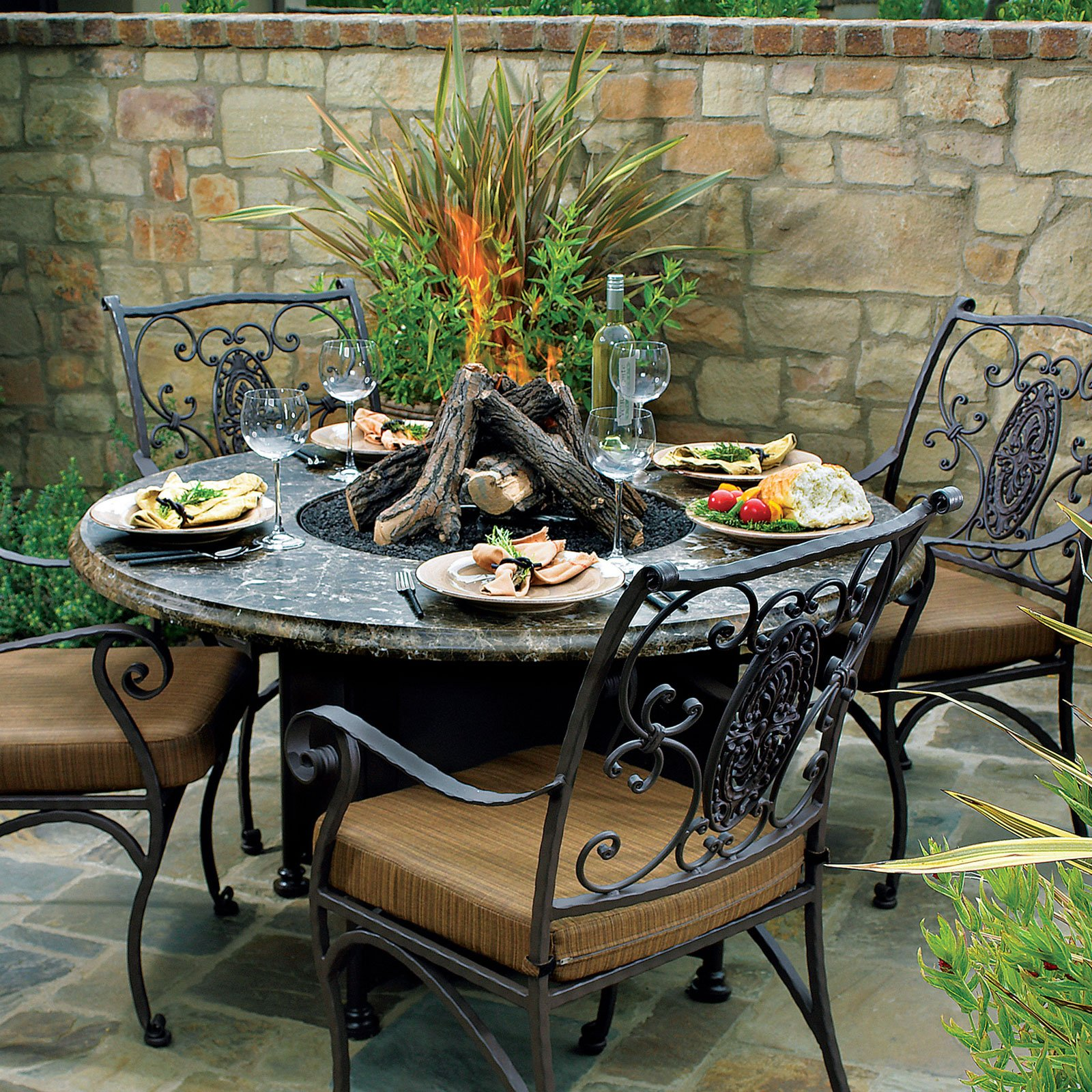 patio furniture with fire pit outdoor patio furniture with pit fireplace design ideas 29218