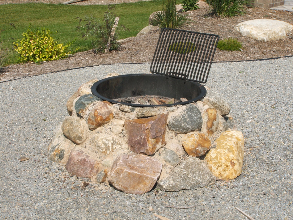 Outdoor Rock Fire Pit