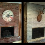 Paint a Brick Fireplace
